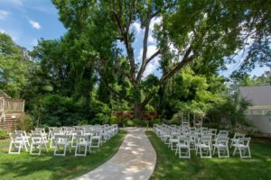 The Cooper House Live Oak Wedding Ceremony Setup
